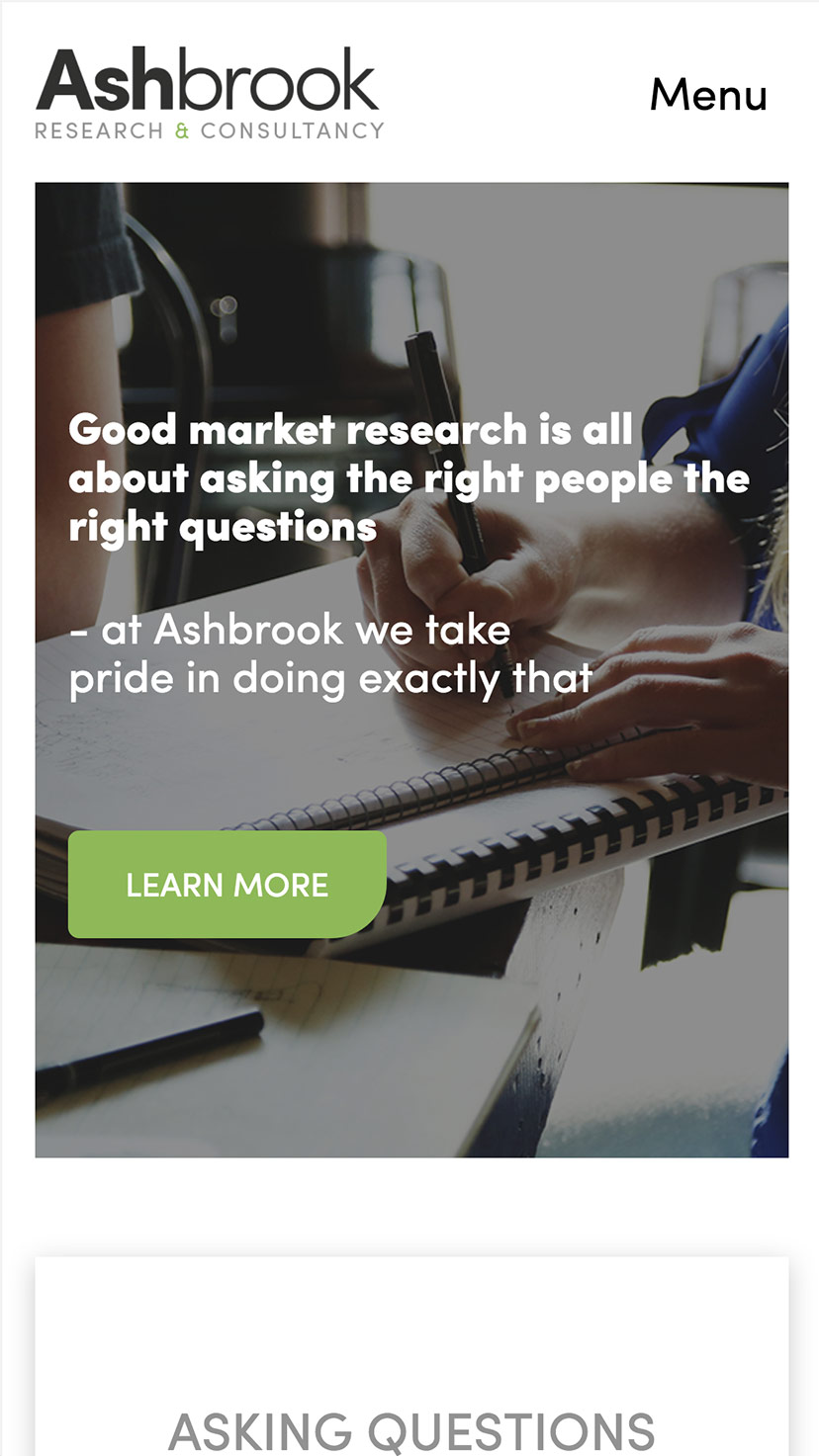 Ashbrook Research Mobile View