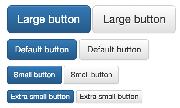 A series of essentially the same button that can be adapted using media queries.